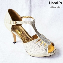 Zapatos de Mujer MC-Epigmenia Champagne Women Shoes Nantlis Mayoreo Wholesale