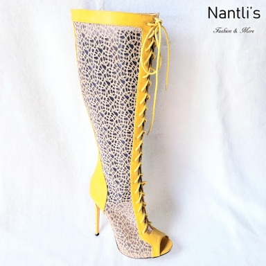 Zapatos de Mujer MC-Facunda Yellow Women Shoes Nantlis Mayoreo Wholesale