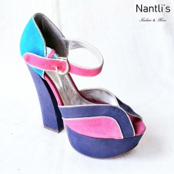 Zapatos de Mujer MC-Galletana Blue-Multi Women Shoes Nantlis Mayoreo Wholesale