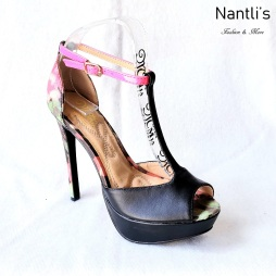 Zapatos de Mujer MC-Herminia Black Women Shoes Nantlis Mayoreo Wholesale