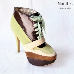 Zapatos de Mujer MC-Ireyda Green-Brown Women Shoes Nantlis Mayoreo Wholesale
