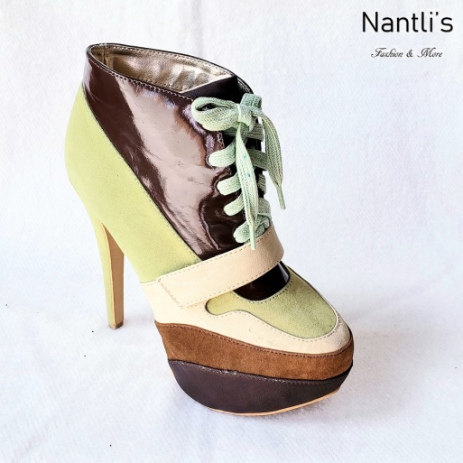 Zapatos de Mujer MC-Ireyda Green-Brown Women Shoes Nantlis Mayoreo Wholesale