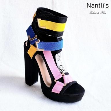 Zapatos de Mujer MC-Kendra Black-Multi Women Shoes Nantlis Mayoreo Wholesale