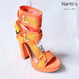 Zapatos de Mujer MC-Kendra Orange-Neon Women Shoes Nantlis Mayoreo Wholesale