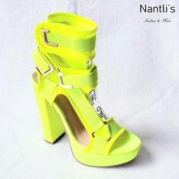 Zapatos de Mujer MC-Kendra Yellow-Neon Women Shoes Nantlis Mayoreo Wholesale