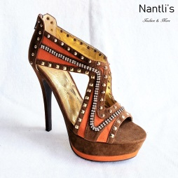 Zapatos de Mujer MC-Lilibeth Brown-Orange Women Shoes Nantlis Mayoreo Wholesale