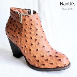 Zapatos de Mujer MC-Lucretia Ostrich Tan Women Shoes Nantlis Mayoreo Wholesale