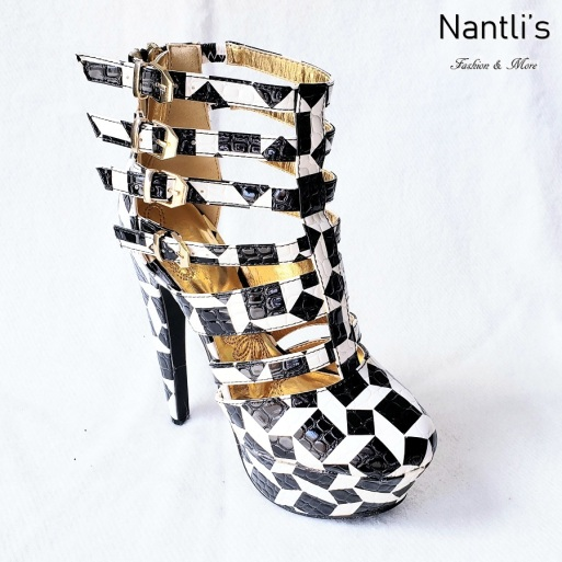 Zapatos de Mujer MC-Miriam Black-White Women Shoes Nantlis Mayoreo Wholesale