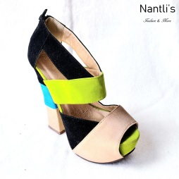 Zapatos de Mujer MC-Totito Black-Green-Nude Women Shoes Nantlis Mayoreo Wholesale