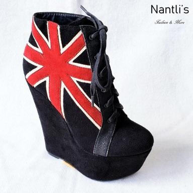 Zapatos de Mujer MC-Trigresa Black-Suede Women Shoes Nantlis Mayoreo Wholesale