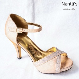 Zapatos de Mujer MC-Vicenta Gold Women Shoes Nantlis Mayoreo Wholesale
