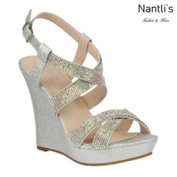 BL-Alle-12 Silver Zapatos de Mujer Mayoreo Wholesale Women Wedges Shoes Nantlis