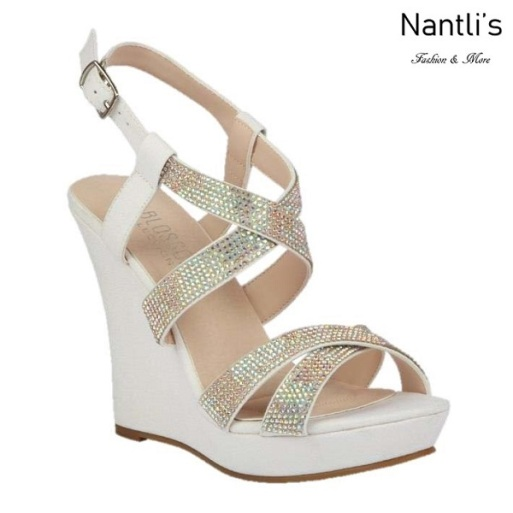 BL-Alle-12 White Zapatos de Mujer Mayoreo Wholesale Women Wedges Shoes Nantlis