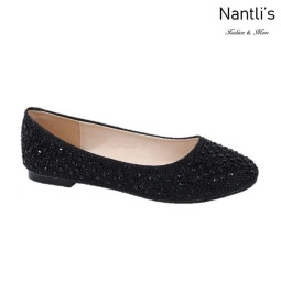 BL-Baba-1 Black Zapatos de Mujer Mayoreo Wholesale Women Flats Shoes Nantlis