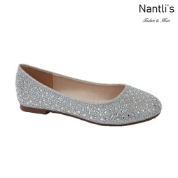 BL-Baba-1 Silver Zapatos de Mujer Mayoreo Wholesale Women Flats Shoes Nantlis
