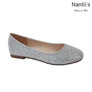 BL-Baba-1 Silver Zapatos de Mujer Mayoreo Wholesale Women Flats Shoes Nantlis