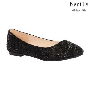 BL-Baba-87 Black Zapatos de Mujer Mayoreo Wholesale Women flats Shoes Nantlis