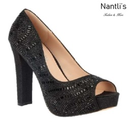 BL-Carina-111C Black Zapatos de Mujer Mayoreo Wholesale Women Heels Bridal Shoes Nantlis