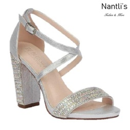 BL-Chelsea-22 Silver Zapatos de Mujer Mayoreo Wholesale Women Heels Bridal Shoes Nantlis