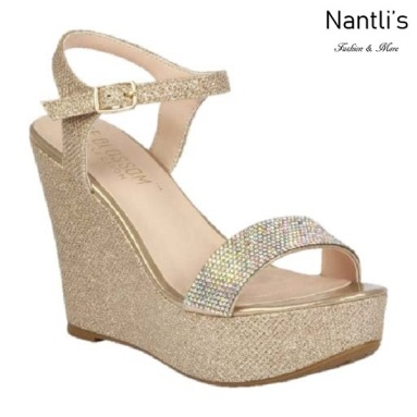 BL-Christy-51 Champagne Zapatos de Mujer Mayoreo Wholesale Women Wedges Shoes Nantlis