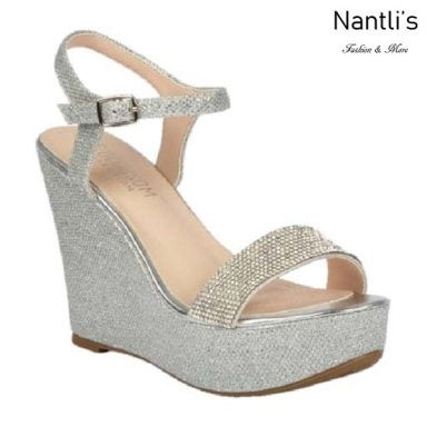 BL-Christy-51 Silver Zapatos de Mujer Mayoreo Wholesale Women Wedges Shoes Nantlis