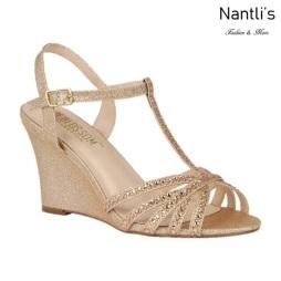 BL-Emma-8 Rose gold Zapatos de Mujer Mayoreo Wholesale Women Wedges Shoes Nantlis