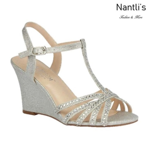 BL-Emma-8 Silver Zapatos de Mujer Mayoreo Wholesale Women Wedges Shoes Nantlis