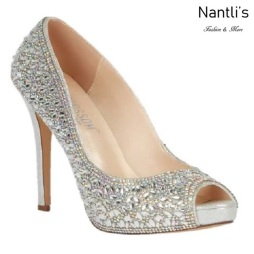 BL-Eternity-128 Silver Zapatos de Mujer Mayoreo Wholesale Women Heels Bridal Shoes Nantlis