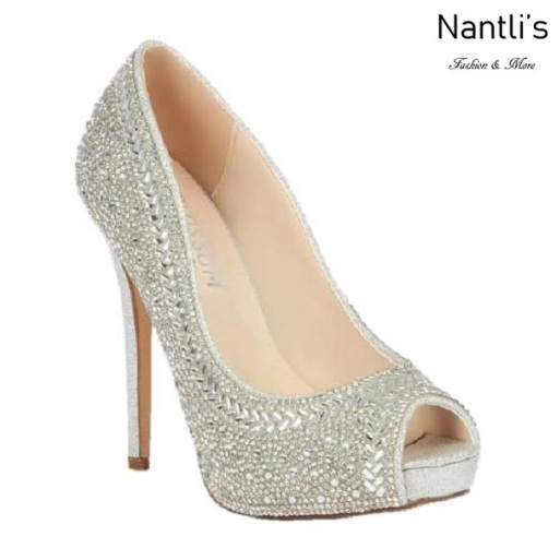 BL-Eternity-130 Silver Zapatos de Mujer Mayoreo Wholesale Women Heels Bridal Shoes Nantlis