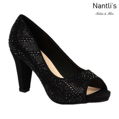 BL-Fay-3 Black Zapatos de Mujer Mayoreo Wholesale Women Heels Shoes Nantlis