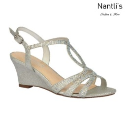 BL-Field-15 Silver Zapatos de Mujer Mayoreo Wholesale Women Wedges Shoes Nantlis