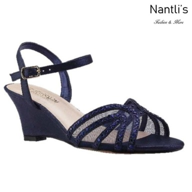 BL-Field-18 Navy Zapatos de Mujer Mayoreo Wholesale Women Wedges Shoes Nantlis