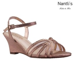 BL-Field-18 Rose Gold Zapatos de Mujer Mayoreo Wholesale Women Wedges Shoes Nantlis