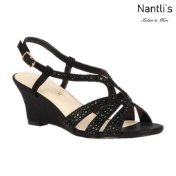 BL-Field-30 Black Zapatos de Mujer Mayoreo Wholesale Women Wedges Shoes Nantlis