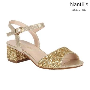 BL-K-Branda-8 Gold Zapatos de niña Mayoreo Wholesale Kids dress Shoes Nantlis