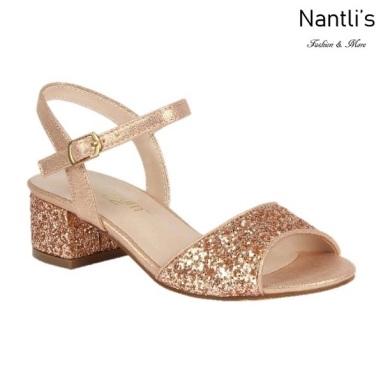 BL-K-Branda-8 Rose Gold Zapatos de niña Mayoreo Wholesale Kids dress Shoes Nantlis