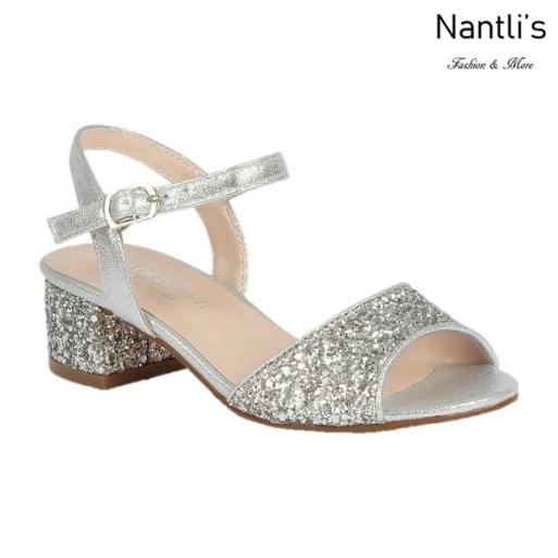 BL-K-Branda-8 Silver Zapatos de niña Mayoreo Wholesale Kids dress Shoes Nantlis