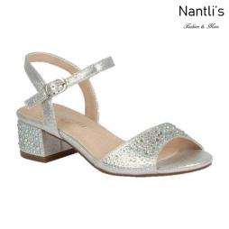 BL-K-Branda-9 Silver Zapatos de niña Mayoreo Wholesale Kids dress Shoes Nantlis