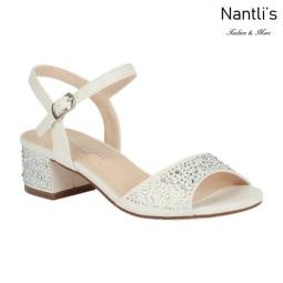 BL-K-Branda-9 White Zapatos de niña Mayoreo Wholesale Kids dress Shoes Nantlis