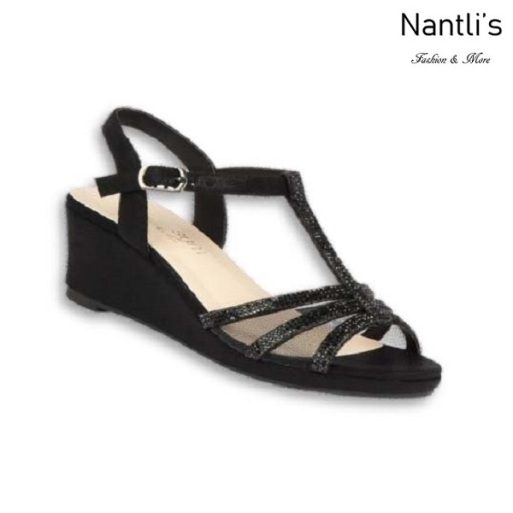 BL-K-Christy-44 Black Zapatos de niña Mayoreo Wholesale Kids Wedges Shoes Nantlis