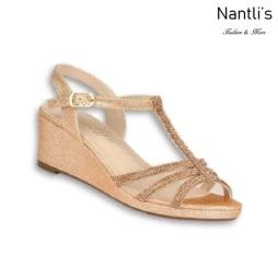 BL-K-Christy-44 Rose gold Zapatos de niña Mayoreo Wholesale Kids Wedges Shoes Nantlis