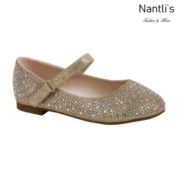 BL-K-Harper-32 Nude Zapatos de niña Mayoreo Wholesale Kids Flats Shoes Nantlis