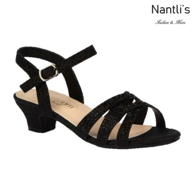 BL-K-Suri-32 Black Zapatos de niña Mayoreo Wholesale Kids dress Shoes Nantlis
