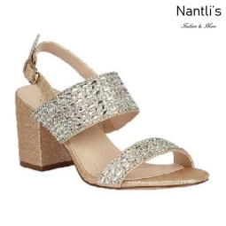 BL-Luiza-1 Gold Zapatos de Mujer Mayoreo Wholesale Women Heels Bridal Shoes Nantlis