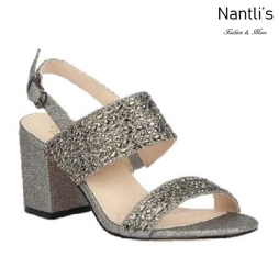 BL-Luiza-1 Pewter Zapatos de Mujer Mayoreo Wholesale Women Heels Shoes Nantlis