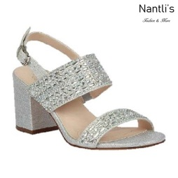 BL-Luiza-1 Silver Zapatos de Mujer Mayoreo Wholesale Women Heels Bridal Shoes Nantlis