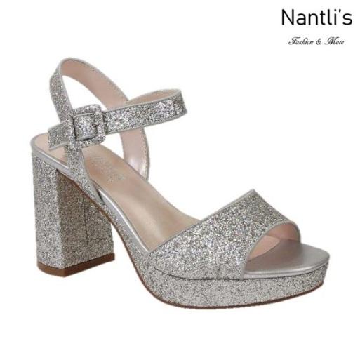 BL-Mila-2 Silver Zapatos de Mujer Mayoreo Wholesale Women Heels Shoes Nantlis