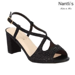 BL-Olie-8 Black Zapatos de Mujer Mayoreo Wholesale Women Heels Shoes Nantlis