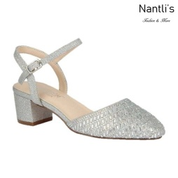 BL-Olivia-26 Silver Zapatos de Mujer Mayoreo Wholesale Women Heels Shoes Nantlis