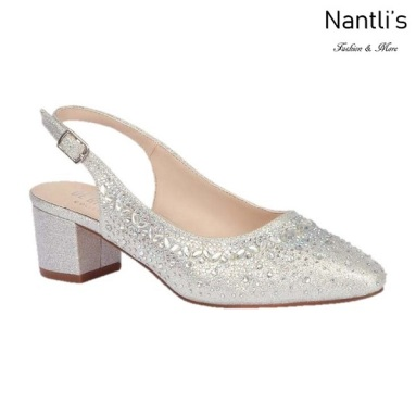BL-Olivia-30 Silver Zapatos de Mujer Mayoreo Wholesale Women Heels Shoes Nantlis